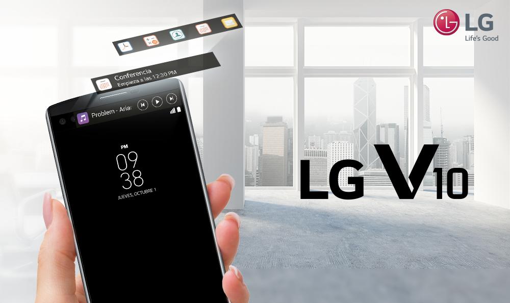 LG V10: su segunda pantalla revoluciona experiencia de uso