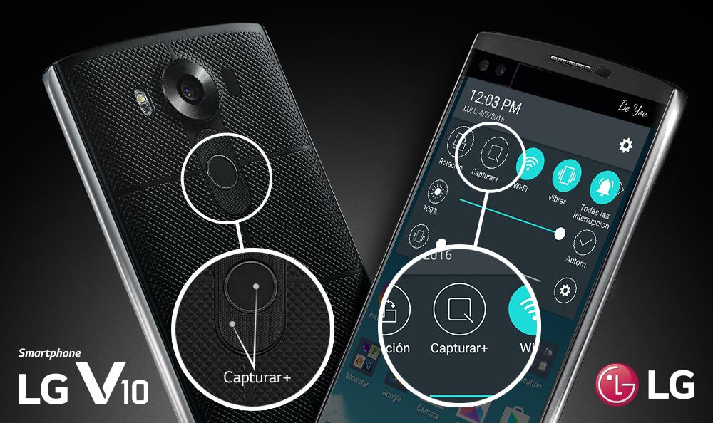 Hacer capturas de pantalla con tu LG V10