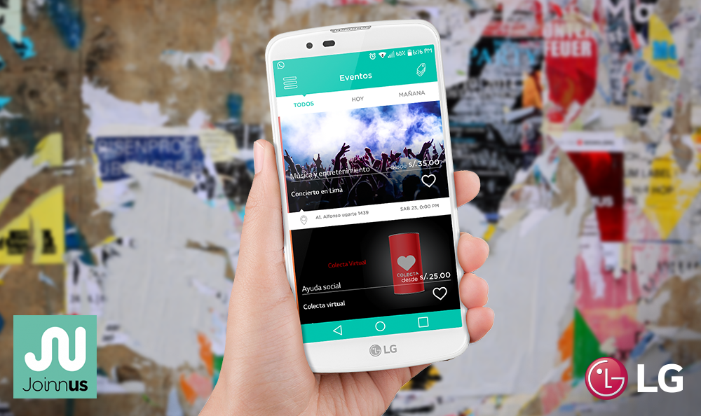 Joinuss: Una app que te permite comprar entradas a eventos desde tu Smartphone.
