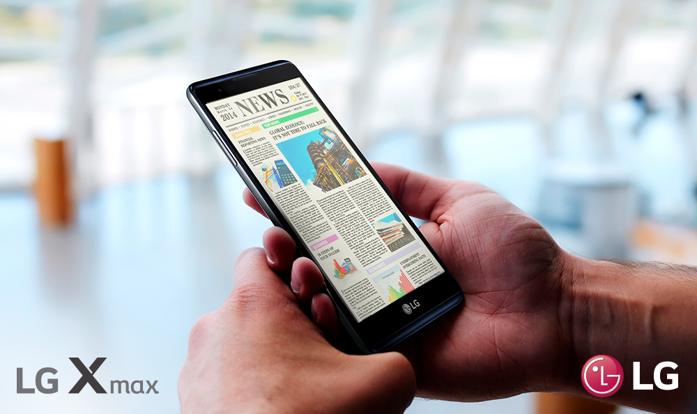 LG X MAX es el smartphone ideal para los lectores o amantes de Netflix