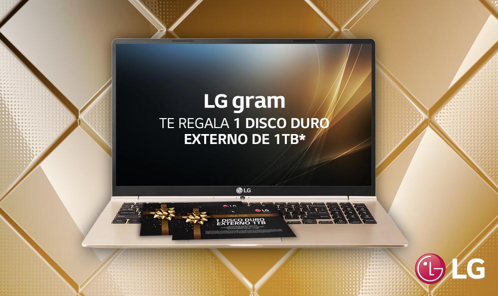 PROMOCIÓN: LG GRAM + 1 DISCO DURO EXTERNO 1TB
