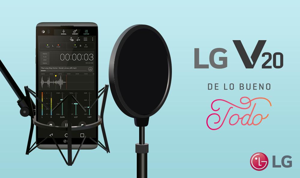 LG V20: Explota todo tu lado musical