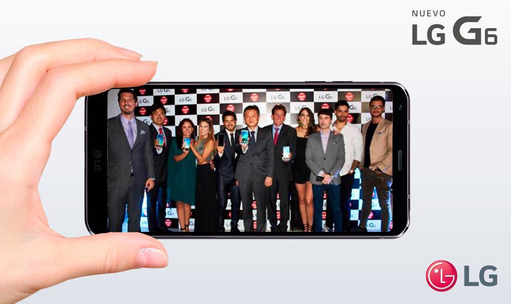 LG y CLARO presentaron el nuevo Smartphone G6 para sorprender con su nuevo formato de pantalla, resistencia y otros atributos únicos
