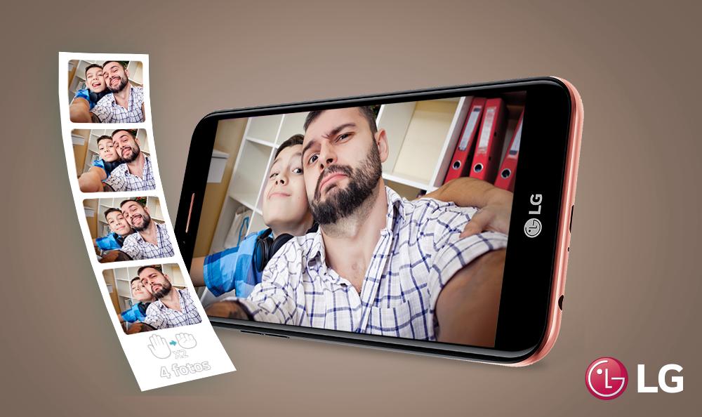 Selfies al instante con tu LG K10 2017