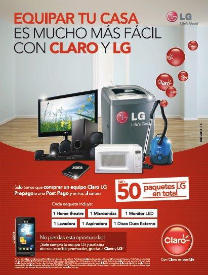 Equipa tu casa con LG y Claro