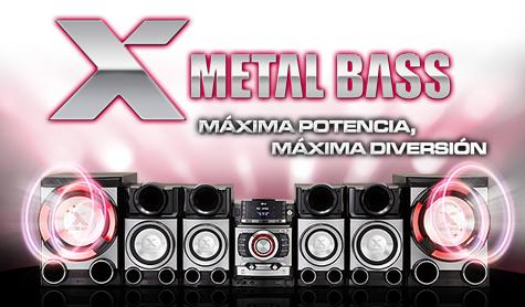 Calidad y estilo, conoce más sobre los parlantes X Metal Bass del minicomponente CM9520