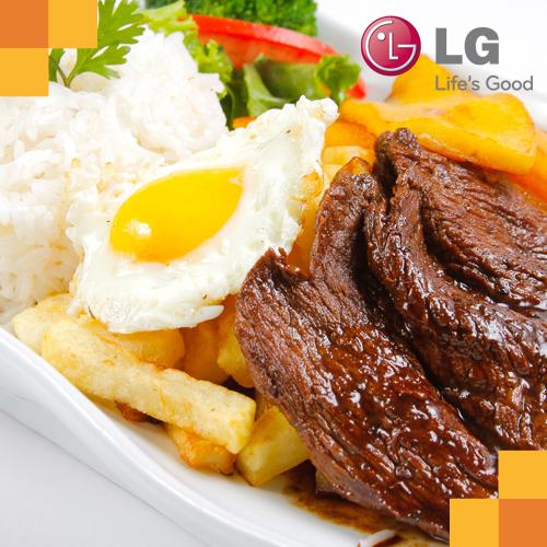 ¿Cómo calentar un plato de bisteck a lo pobre en un Microondas con Dorador LG?