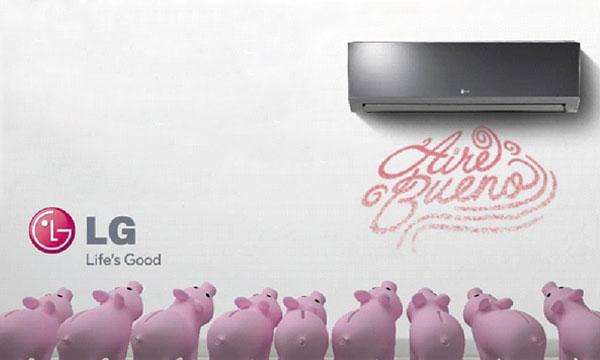 Ahorra un 75% de energía con el Aire Acondicionado LG