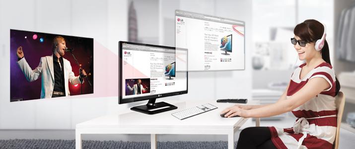 Combina la mejor experiencia de tu televisión con tu monitor de PC