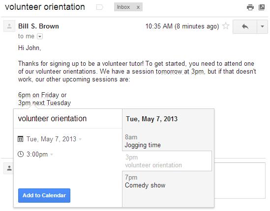 Añade eventos a Google Calendar desde Gmail