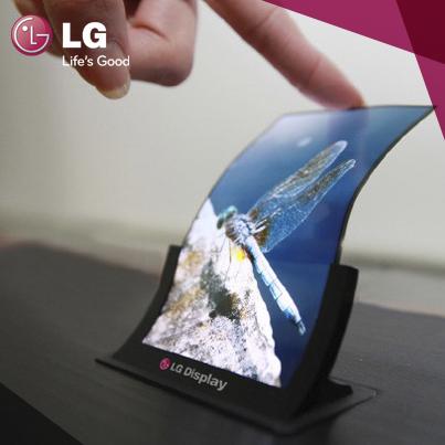 LG muestra una pantalla OLED flexible de 5 pulgadas