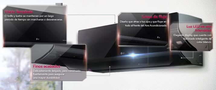 El diseño de los aires acondicionados de LG son impresionantes