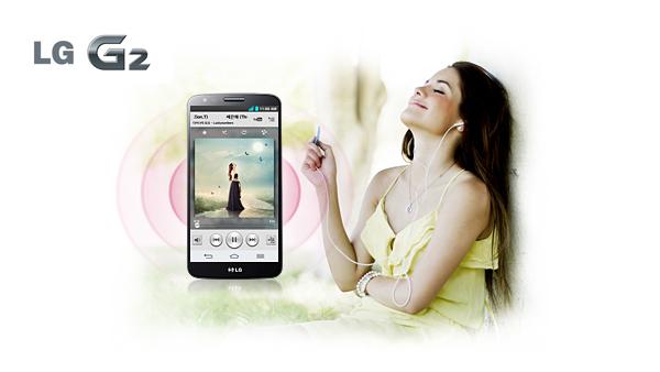 Disfruta de la máxima calidad de sonido Hi-Fi desde tu LG G2
