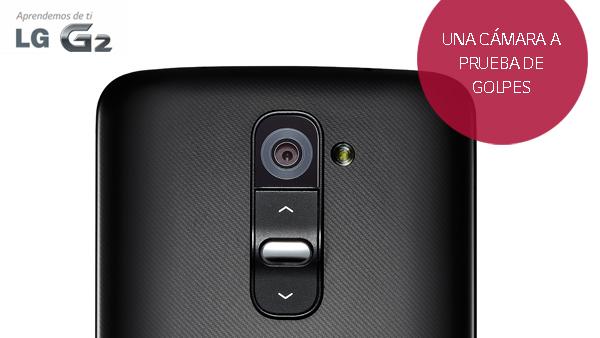 La dureza del cristal zafiro protege la cámara del LG G2