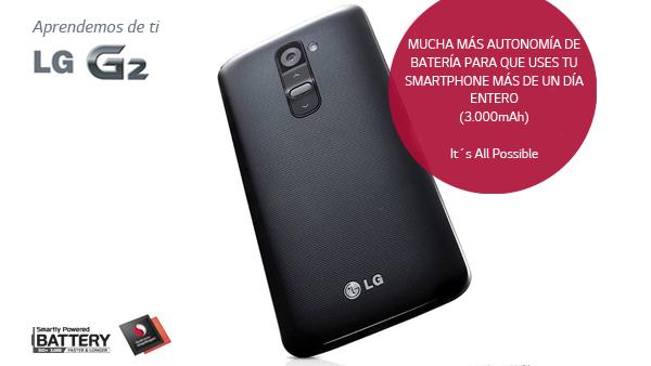 La mejor autonomía en un smartphone la tiene nuestro LG G2