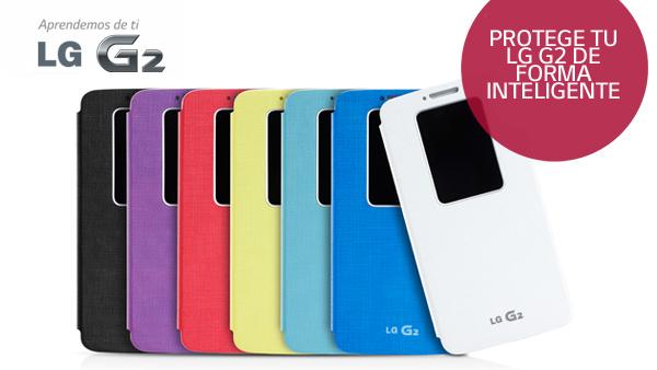 La nueva funda inteligente del LG G2 te sorprenderá