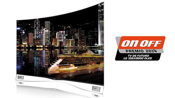 Revista On Off premia el televisor OLED Curvo de LG como el Mejor TV de futuro