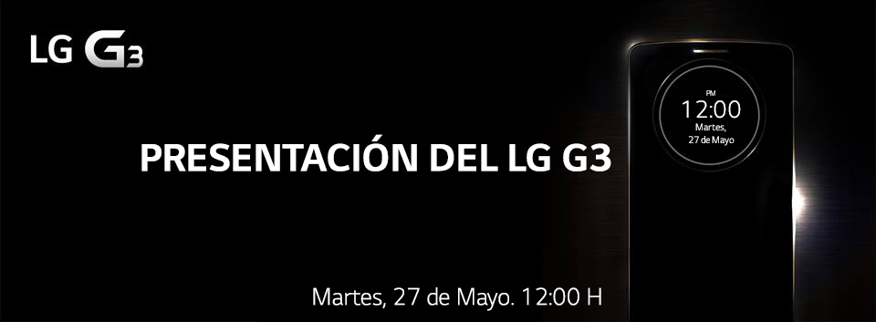 Mira en vivo la presentación mundial del LG G3