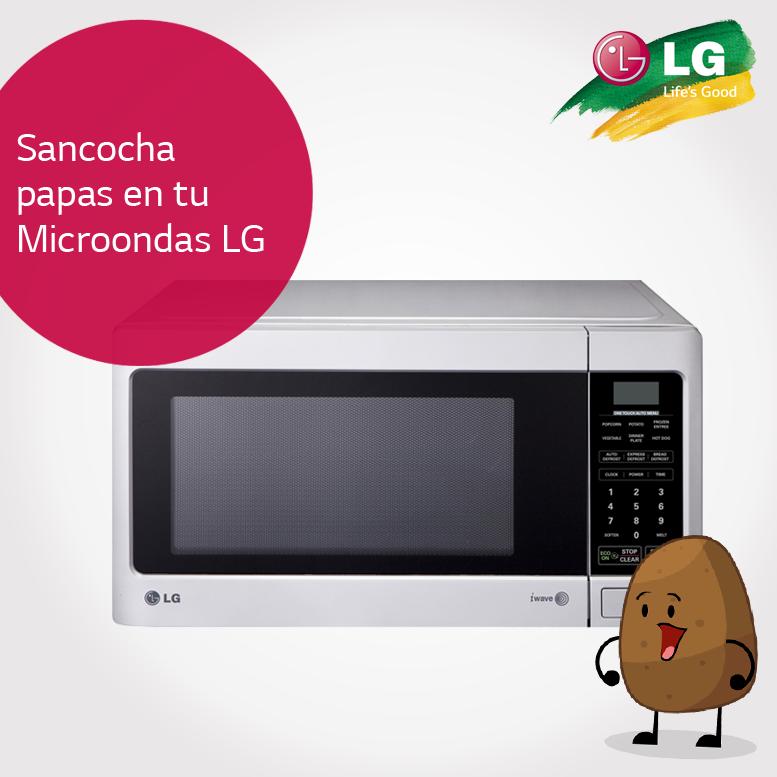 Aprende cómo sancochar papas en tu microondas LG