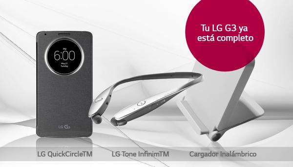¿Ya conoces los nuevos accesorios para el LG G3?