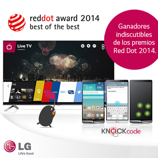 Smart TV WebOs y LG G3: grandes ganadores en los premios Red Dot 2014
