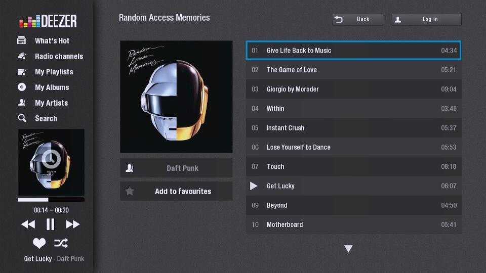 Deezer, música ilimitada para tu Smart TV.