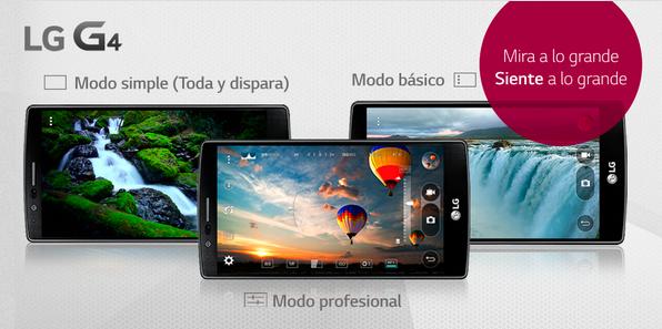Conoce los 3 modos de cámara del nuevo LG G4