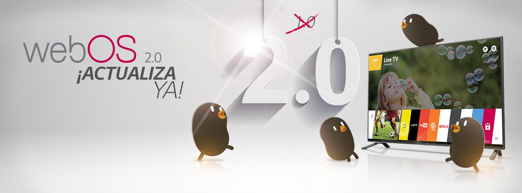 ¿Cómo actualizar mi smart tv a webOS 2.0?