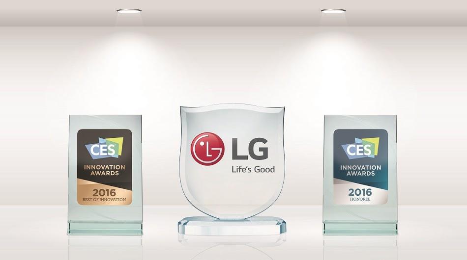 LG Electronics recibe 21 premios CES 2016 a la innovación