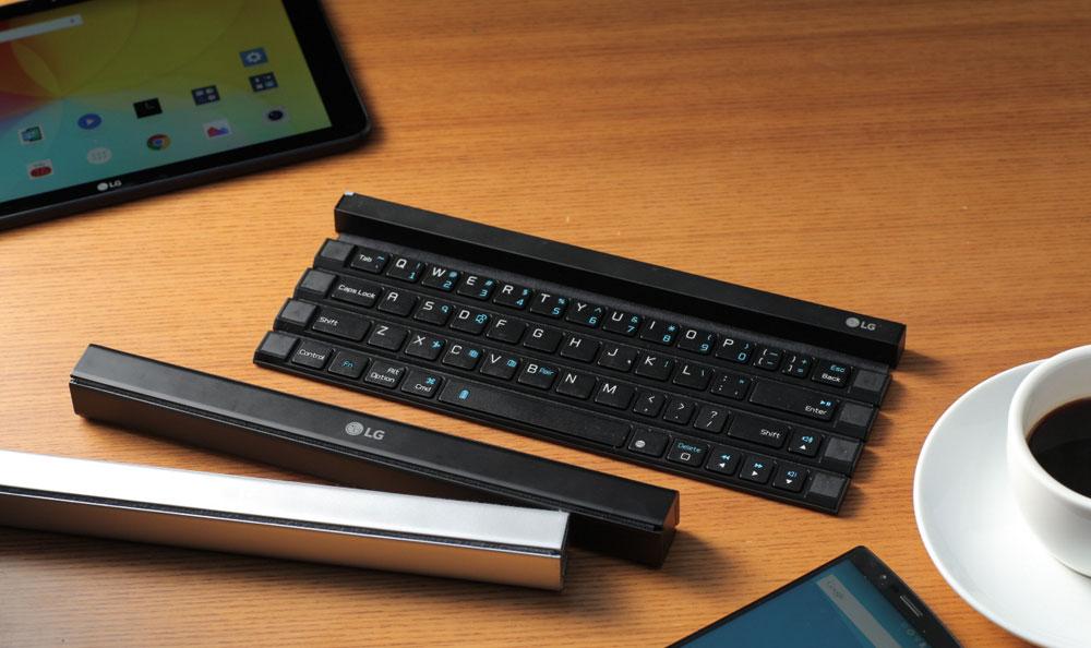 LG desarrolla el primer teclado enrollable inalámbrico