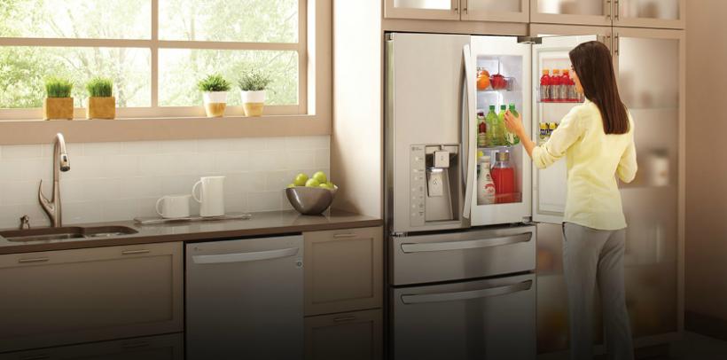 ¿Cómo funciona una refrigeradora Door in Door?
