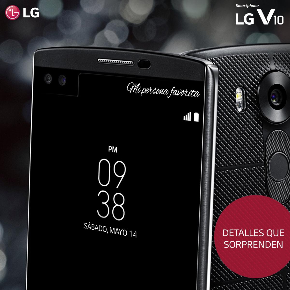 Personaliza la pantalla secundaria de tu LG V10