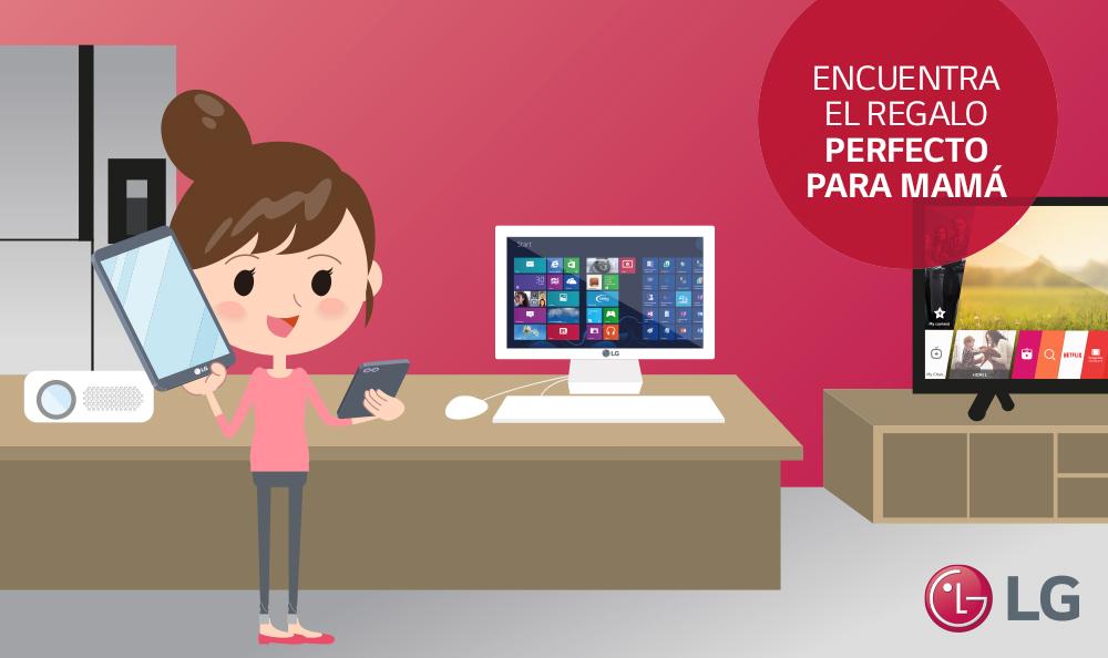 LG aconseja como elegir el regalo tecnológico perfecto por el Día de la Madre