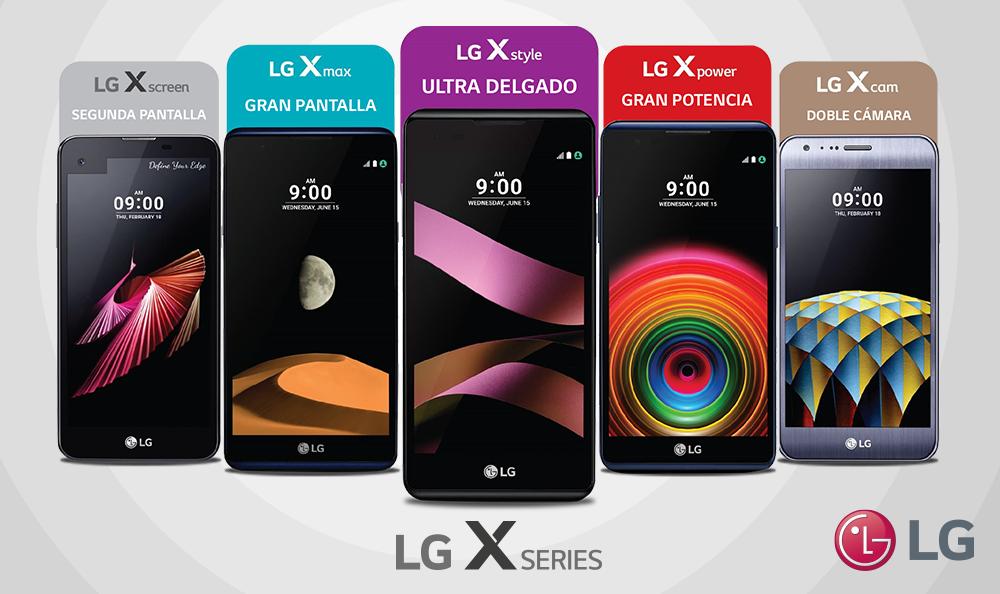LG presenta Serie X: smartphones con características únicas para necesidades distintas