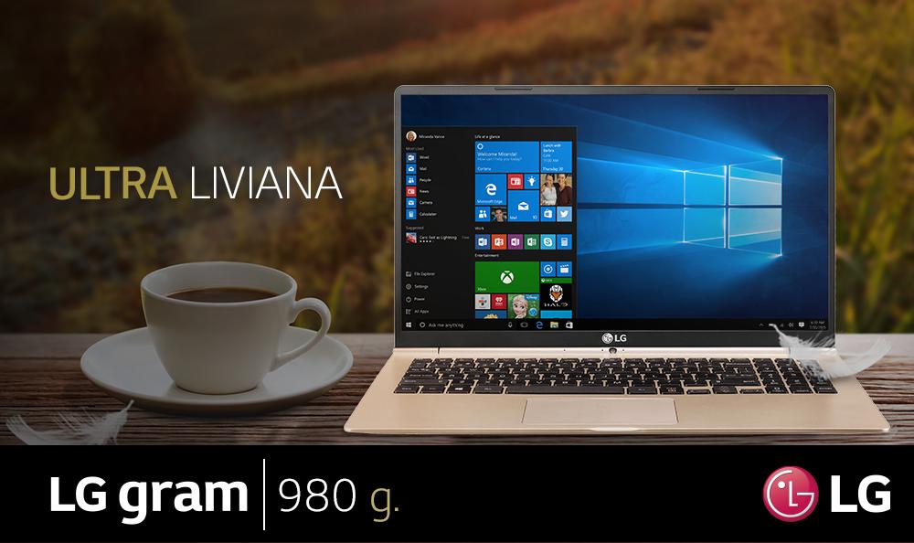 Conoce nuestra LG Gram, la laptop más ligera del mundo
