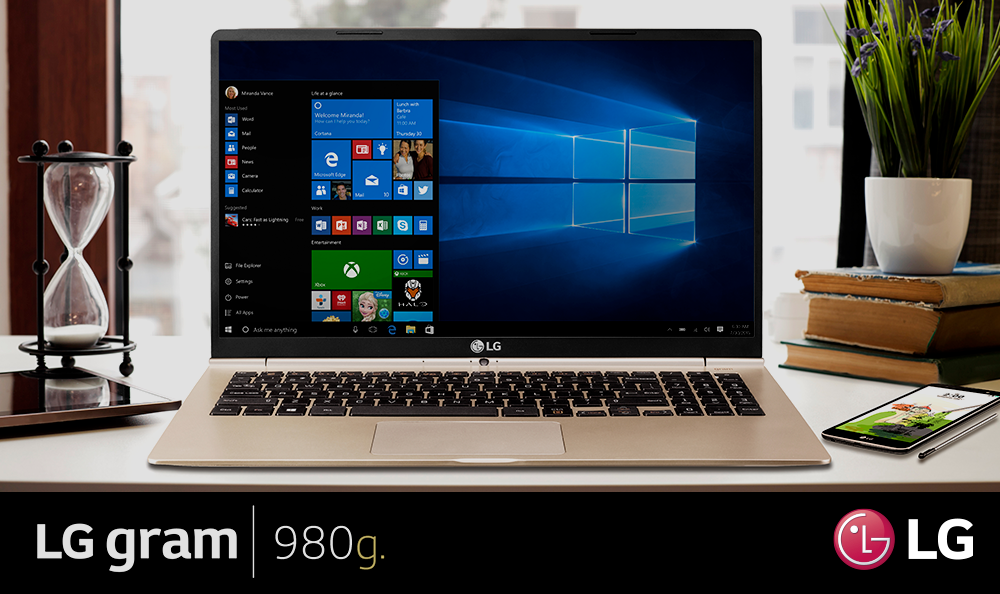 Windows 10 Home, el sistema operativo del LG Gram