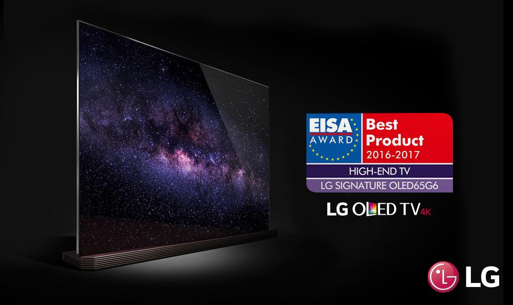 LG OLED TV, premiado como mejor televisor de Europa por quinto año consecutivo.