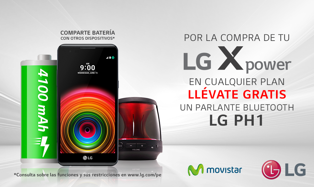 Promoción LG X Power en Movistar