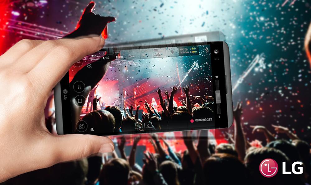 El Smartphone LG V20 ideal para registrar conciertos