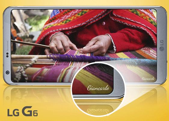 configura tu firma o marca de agua en tus foto con el LG G6