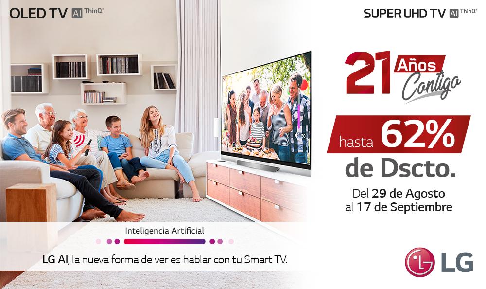 PROMOCIÓN ANIVERSARIO LG 21 AÑOS – LOS MEJORES DESCUENTOS EN TVS