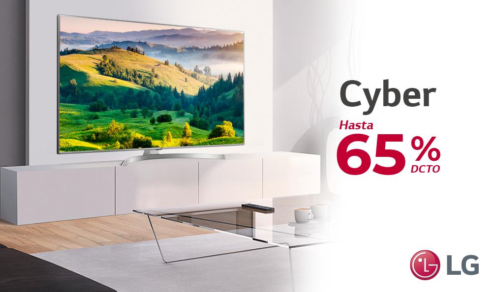 Las promociones de TV en Cyber hasta el 65% de descuento.