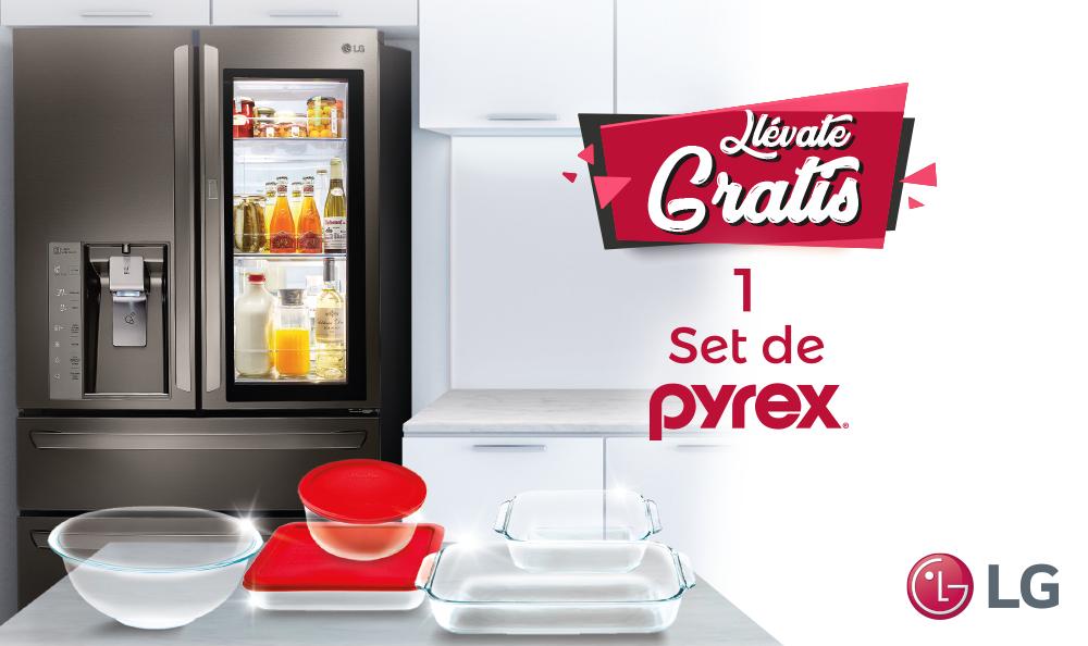 Promoción decembrina: mantén la frescura con LG y Pyrex