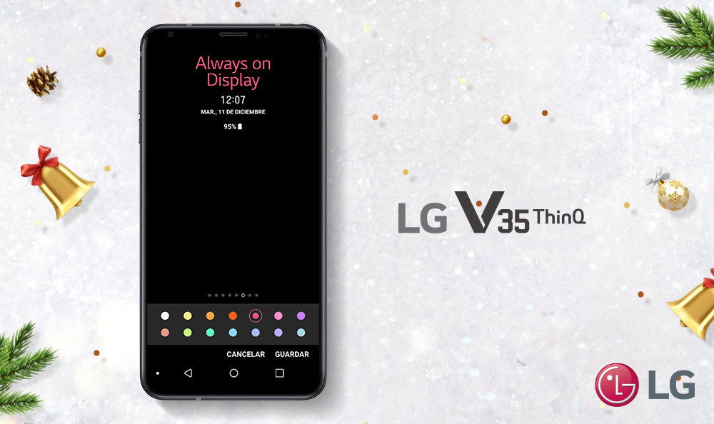 Activa en 3 pasos el always on del LG V35 ThinQ