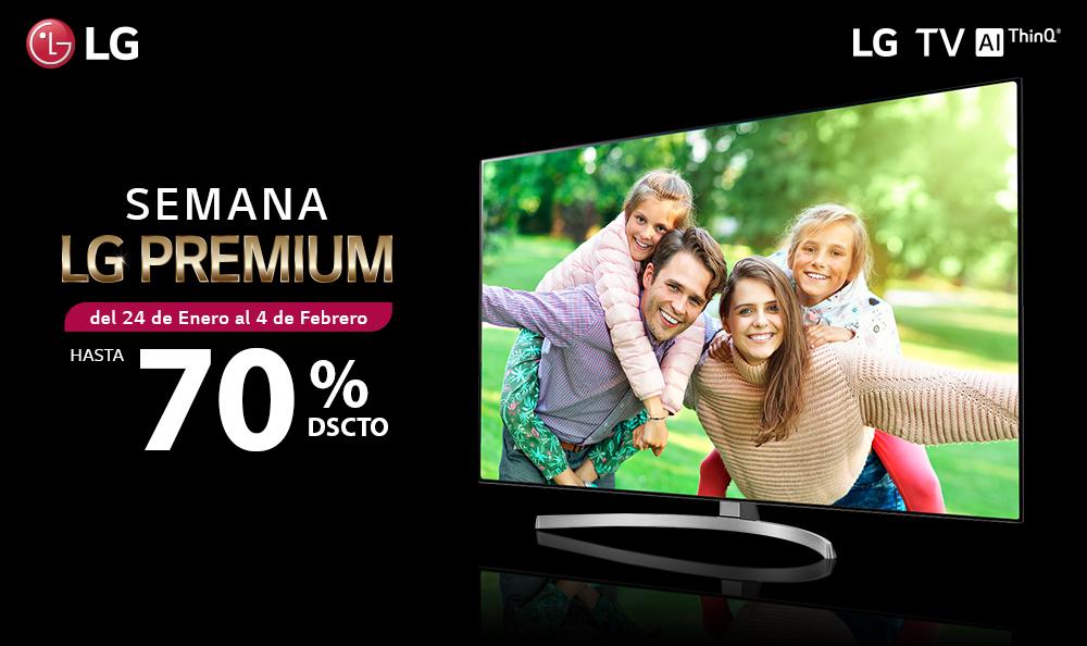 SEMANA PREMIUM II DESCUENTOS HASTA EL 70% EN TELEVISORES LG