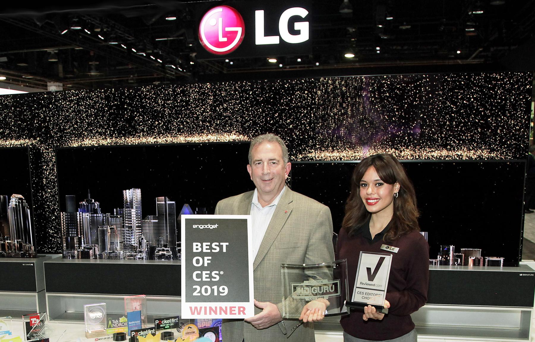 LG RECIBE MÁS DE 140 PREMIOS Y HONORES A TRAVÉS DE VARIAS CATEGORÍAS – PREMIOS CES 2019 LG