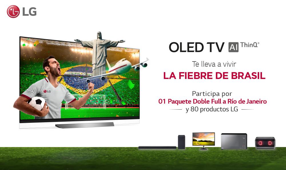 ¡LG OLED TV TE LLEVA A BRASIL!