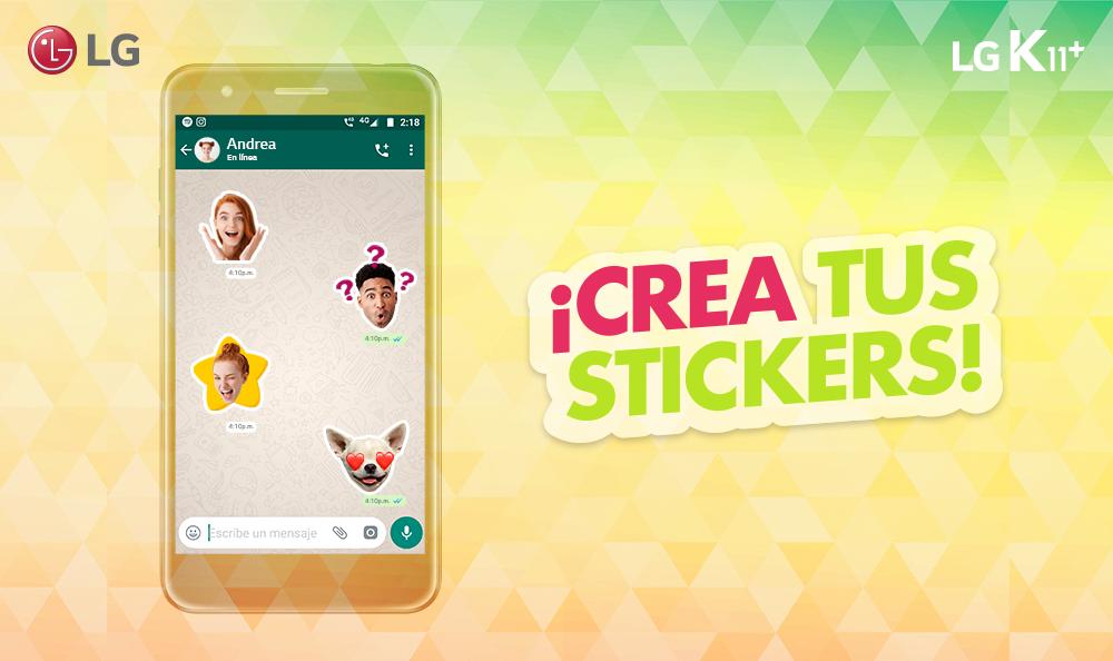 ¡Crea tus propios stickers con tu smartphone LG!
