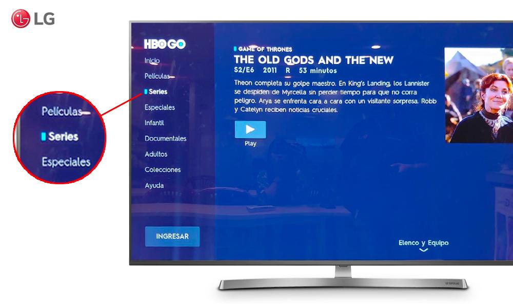 EMOCIÓNATE CON TODO LO QUE HBO GO Y LG TV TIENE PARA TI