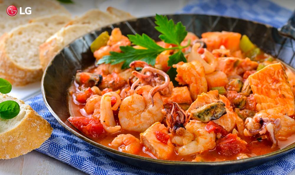 Menú Gourmet en tu NeoChef: Cazuela de mariscos
